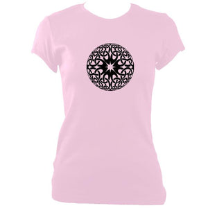 update alt-text with template Celtic Globe Ladies Fitted T-shirt - T-shirt - Light Pink - Mudchutney