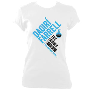 update alt-text with template Daoiri Farrell Corner Session Bottle Women's Fitted T-shirt - T-shirt - White - Mudchutney