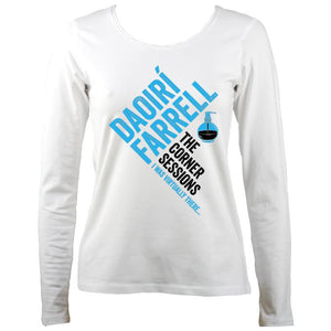 Daoiri Farrell Corner Session Bottle Women's Long Sleeve Shirt - Long Sleeved Shirt - White - Mudchutney