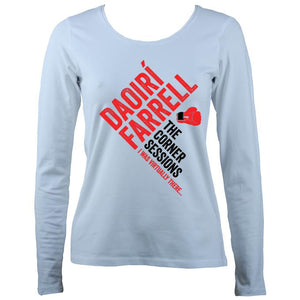 Daoiri Farrell Corner Session Boxing Glove Women's Long Sleeve Shirt - Long Sleeved Shirt - Light Blue - Mudchutney
