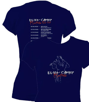 update alt-text with template Eliza Carthy Restitute Tour 2020 Ladies Fitted T-shirt - T-shirt - Navy - Mudchutney