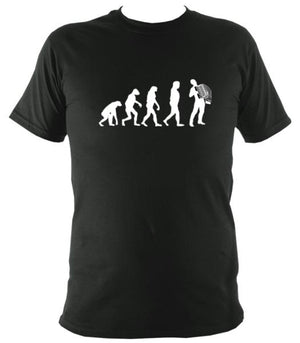 Evolution of Accordion Players T-shirt - T-shirt - Forest Green - Mudchutney