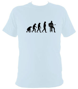 Evolution of Guitar Players T-shirt - T-shirt - Light Blue - Mudchutney