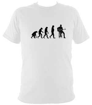 Evolution of Guitar Players T-shirt - T-shirt - White - Mudchutney