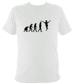 Evolution of Morris Dancers T-shirt - T-shirt - White - Mudchutney