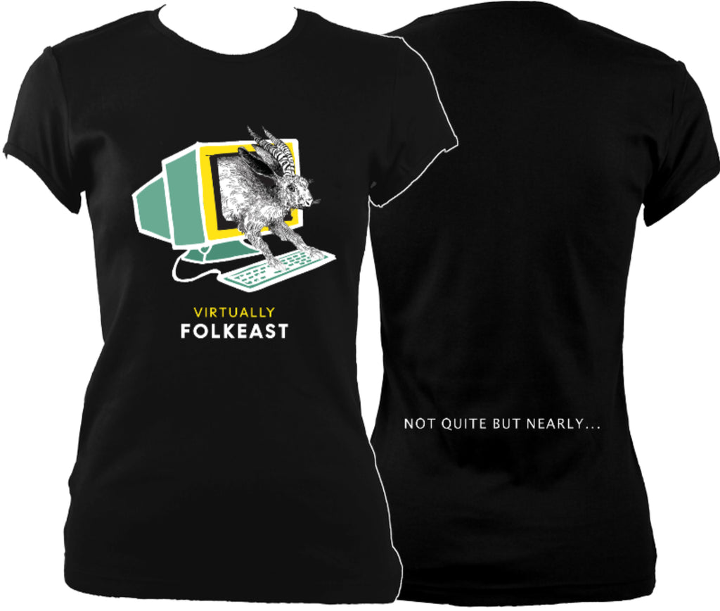 Virtually Folk East Women's Fitted T-Shirt