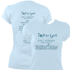 "Folk On Foot 3 ""Together Again"" Ladies Fitted T-shirt"