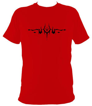 Gothic Tattoo T-shirt - T-shirt - Red - Mudchutney