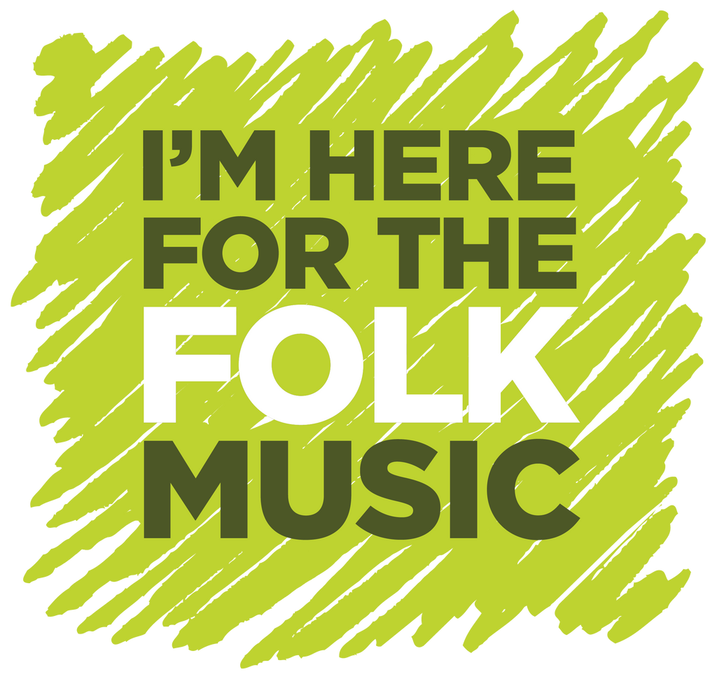"""I'm Here For The Folk Music"" Mens Long Sleeve Shirt - Long Sleeved Shirt - - Mudchutney"