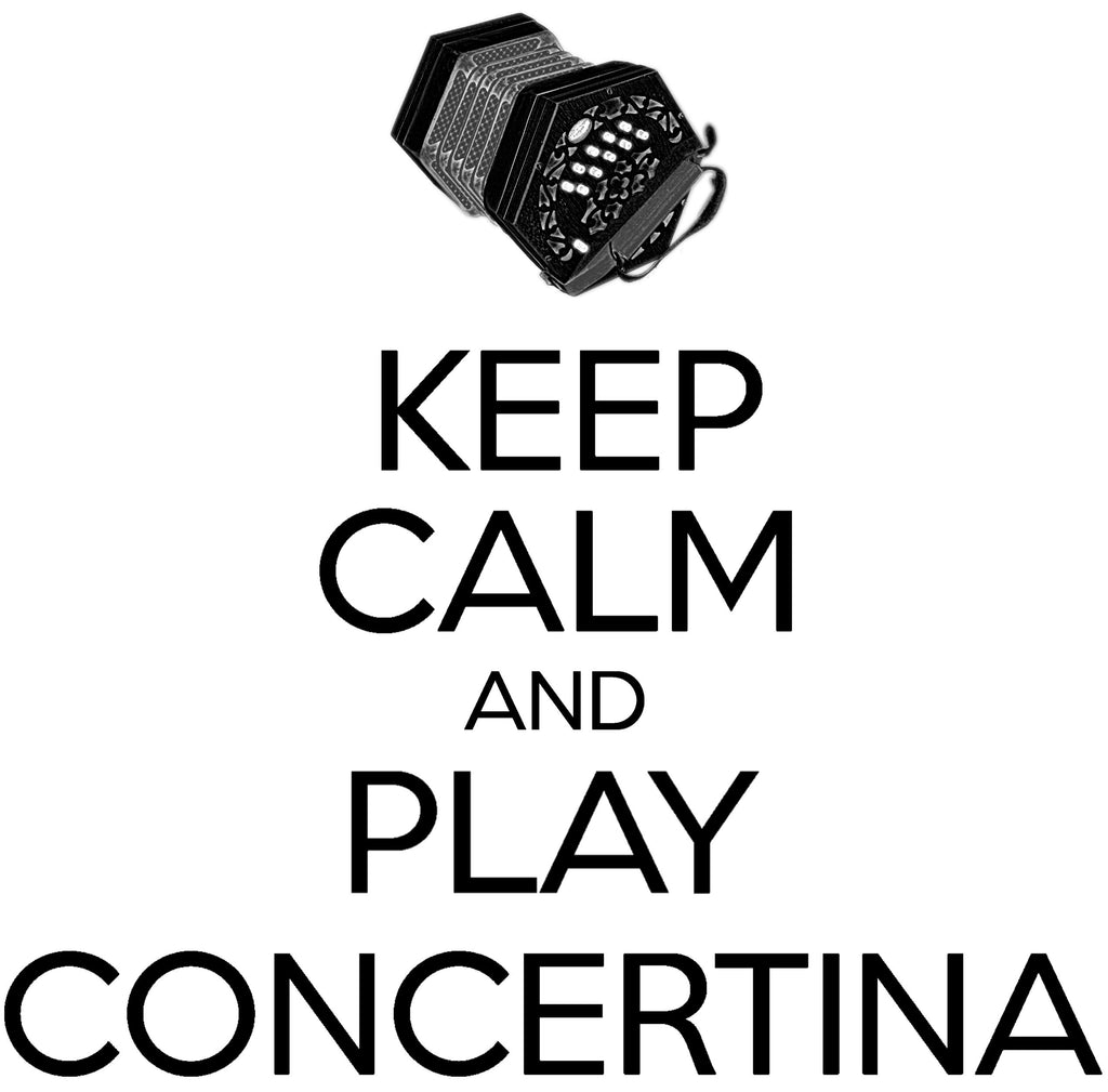 Keep Calm & Play Anglo Concertina T-shirt - T-shirt - - Mudchutney