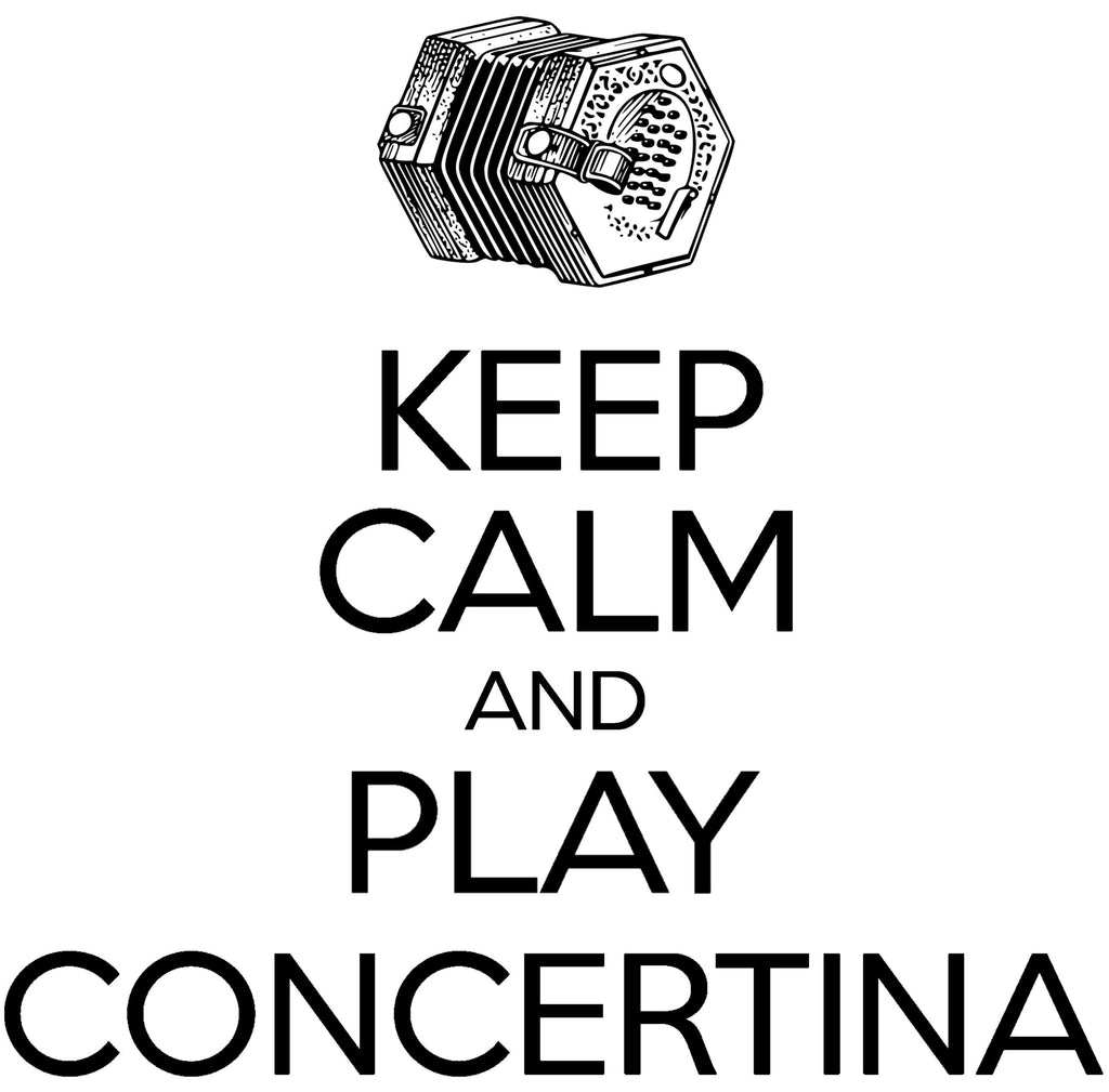 Keep Calm & Play English Concertina T-shirt - T-shirt - - Mudchutney