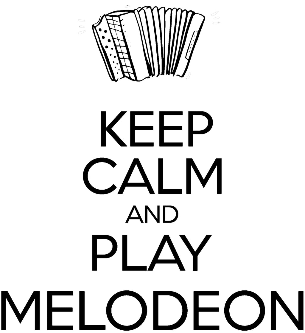Keep Calm & Play Melodeon T-shirt - T-shirt - - Mudchutney