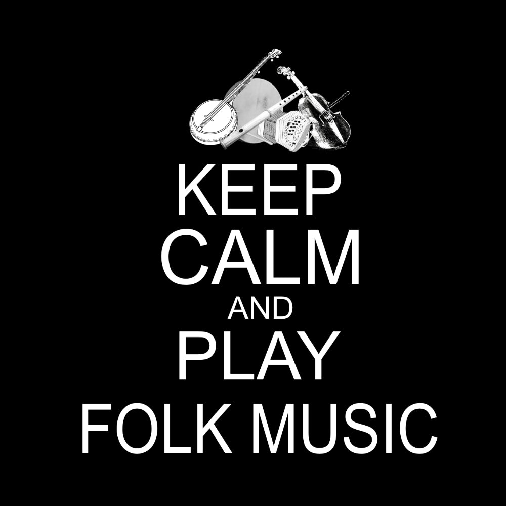 Keep Calm and Play Folk Music Sweatshirt