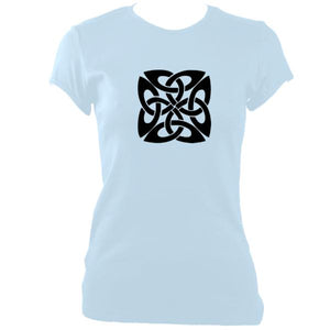 Celtic Square-ish Knot Ladies Fitted T-Shirt
