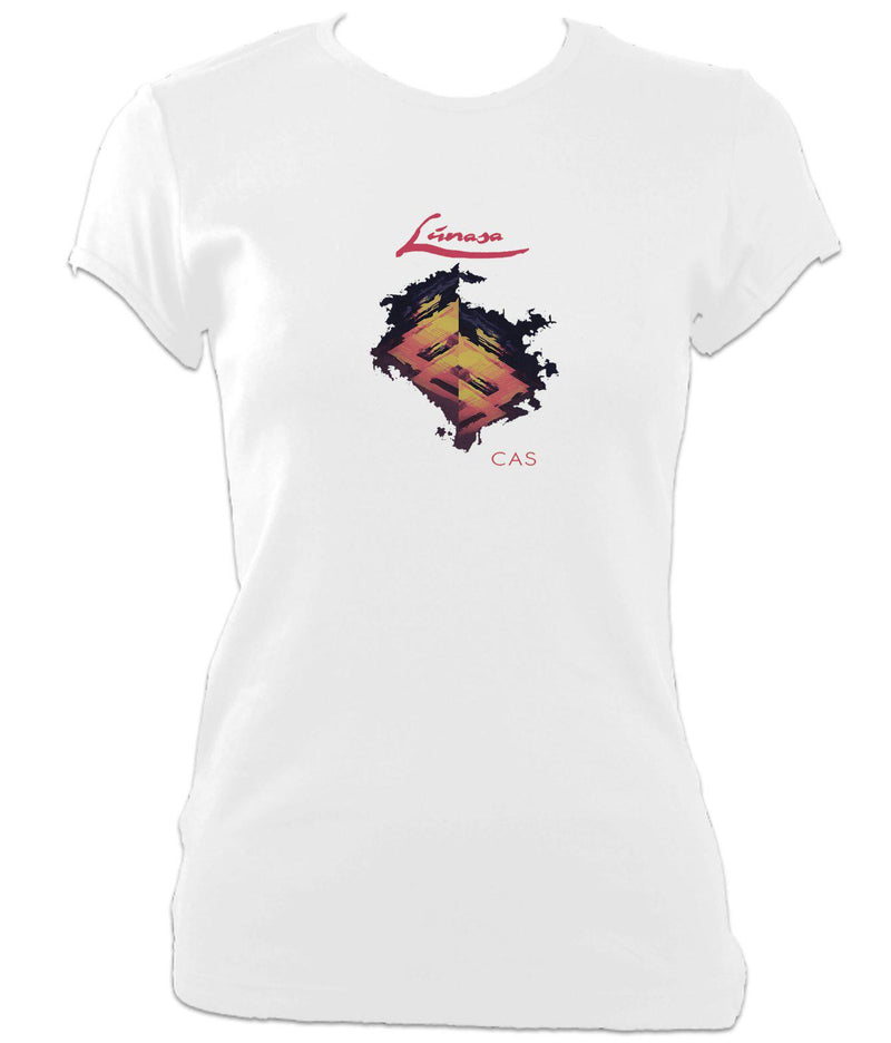 Lunasa Cas Ladies Fitted T-shirt - White