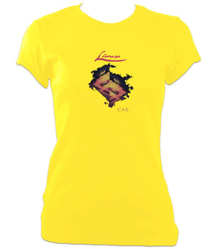 Lunasa Cas Ladies Fitted T-shirt - Yellow
