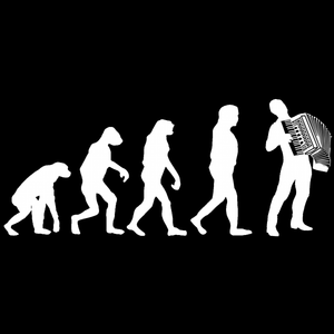 Evolution of Accordion Players Hoodie