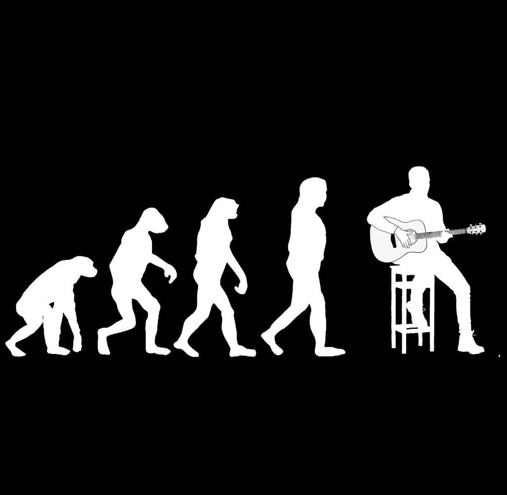 Evolution of Guitar Players T-shirt - T-shirt - - Mudchutney