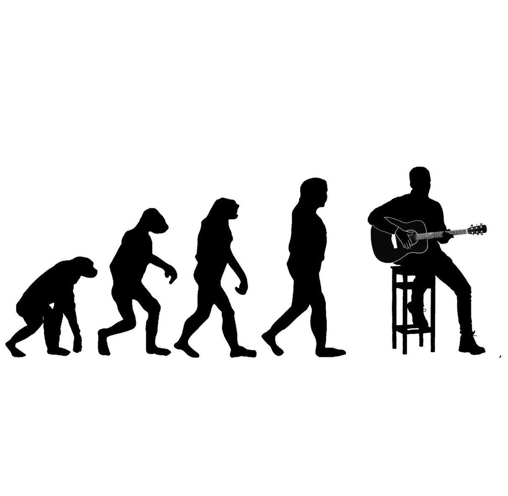 Evolution of Guitar Players Hoodie-Hoodie-Mudchutney