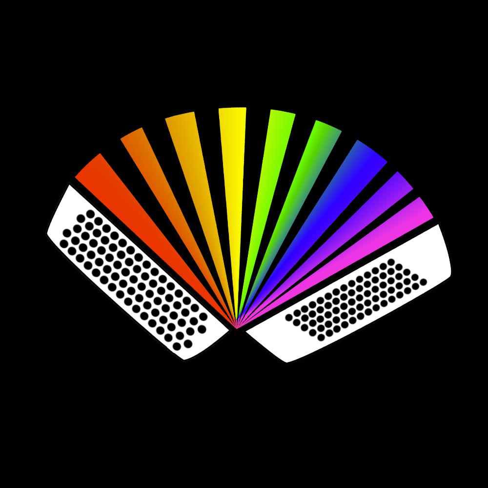 Rainbow Chromatic Accordion T-shirt - T-shirt - - Mudchutney