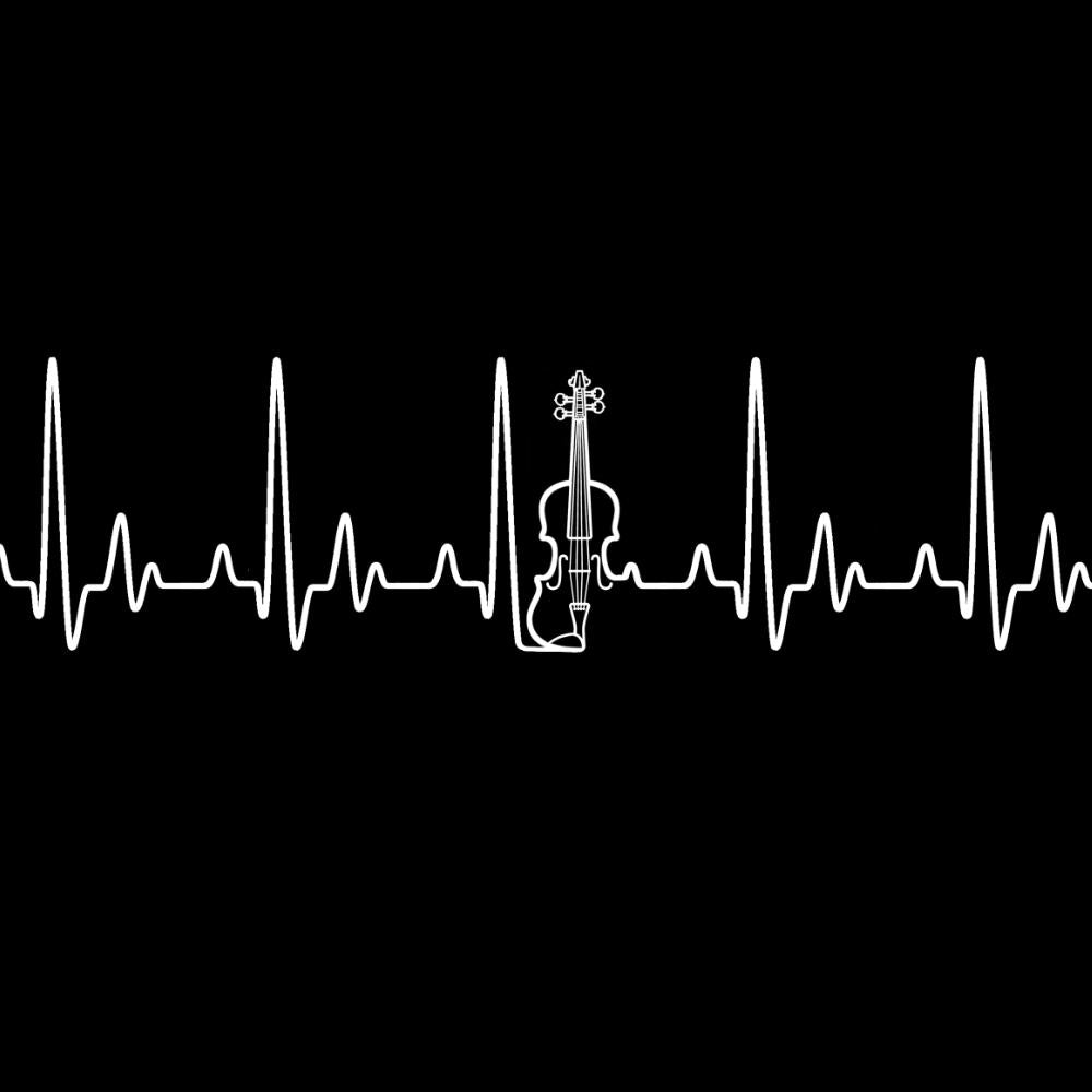 Heartbeat Fiddle T-shirt - T-shirt - - Mudchutney