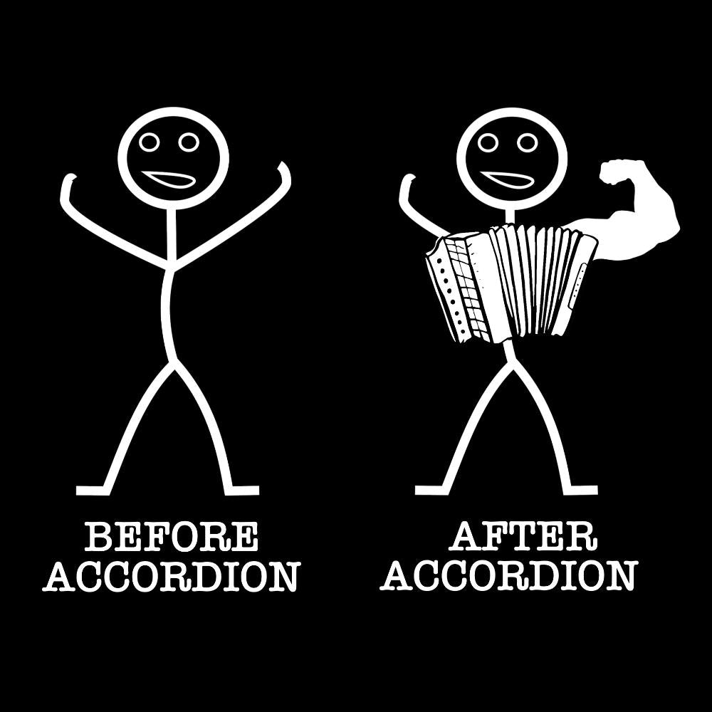 Before & After Accordion T-shirt - T-shirt - - Mudchutney