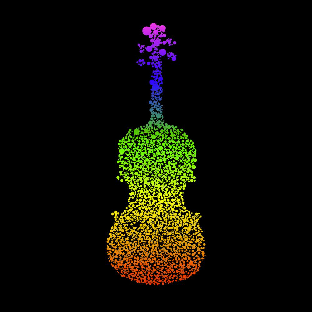 Rainbow Dotted Fiddle Ladies Racerback Vest