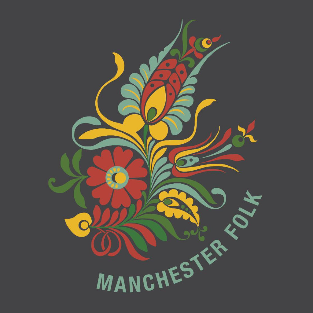 "update alt-text with template ""Manchester Folk"" Ladies Fitted T-shirt - T-shirt - Dark Heather - Mudchutney"