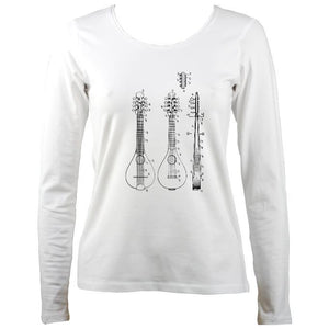 Mandolin Patent Ladies Long Sleeve Shirt
