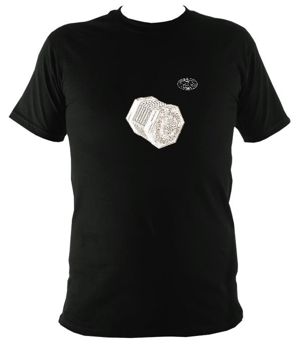 Lachenal English Concertina T-Shirt - T-shirt - Black - Mudchutney