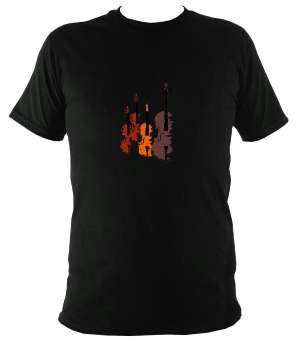 String Quartet / Fiddle T-Shirt - T-shirt - Black - Mudchutney