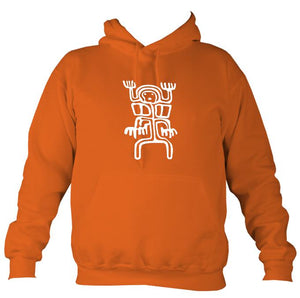 Cave Painting Hoodie-Hoodie-Burnt orange-Mudchutney