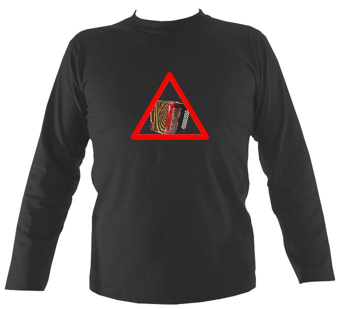 Warning Melodeon Long Sleeve Shirt