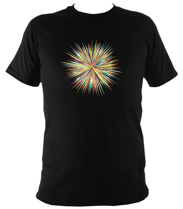 Coloured explosion T-Shirt - T-shirt - Black - Mudchutney