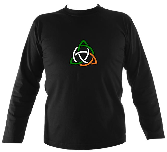 Irish Colour Celtic Knot Long Sleeve Shirt