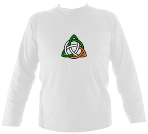Irish Coloured Celtic Knot Long Sleeve Shirt