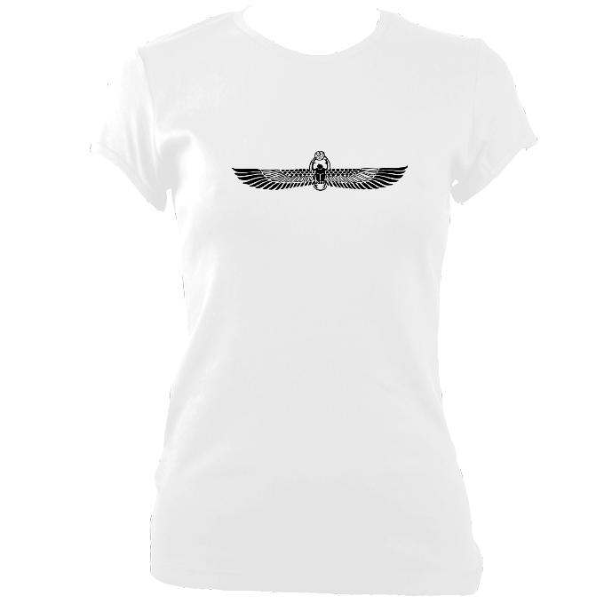 Winged Scarab Fitted T-Shirt