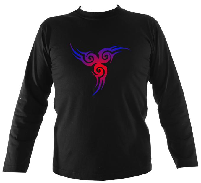 Blue & Red Celtic Tribal Long Sleeve Shirt