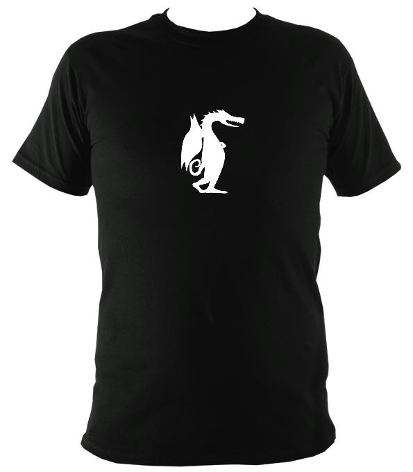 Dragon Ambling Along T-Shirt - T-shirt - Black - Mudchutney