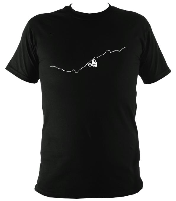 Upside Down Mountain Bike T-shirt - T-shirt - Black - Mudchutney