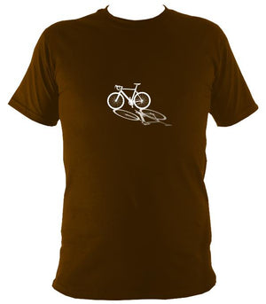 Bike Shadow T-shirt - T-shirt - Dark Chocolate - Mudchutney