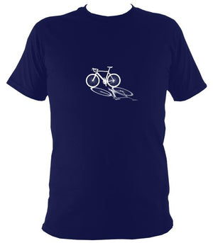 Bike Shadow T-shirt - T-shirt - Navy - Mudchutney