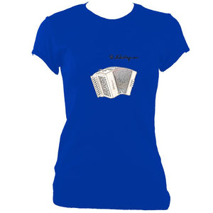 update alt-text with template Castagnari Tommy Ladies Fitted T-shirt - T-shirt - Royal - Mudchutney