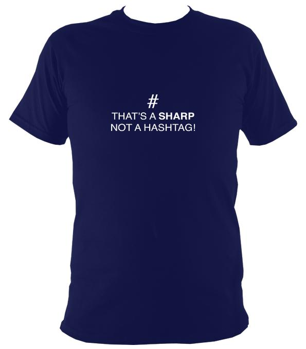 Sharp not Hashtag T-Shirt - T-shirt - Navy - Mudchutney