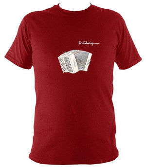 Castagnari Tommy Melodeon T-Shirt - T-shirt - Antique Cherry Red - Mudchutney
