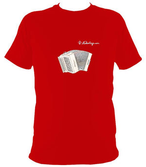 Castagnari Tommy Melodeon T-Shirt - T-shirt - Red - Mudchutney