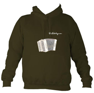 Castagnari Lilly Melodeon Hoodie-Hoodie-Olive green-Mudchutney