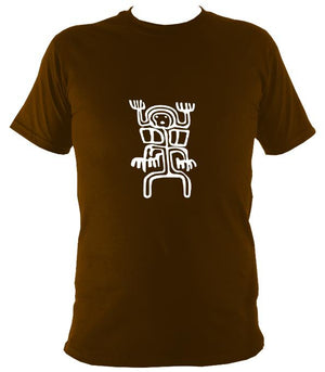 Cave Painting T-Shirt - T-shirt - Dark Chocolate - Mudchutney