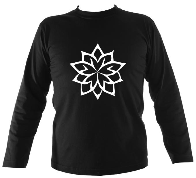 Geometric Flower Long Sleeve Shirt