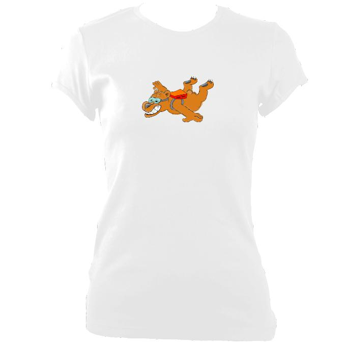update alt-text with template Dare Bear Fitted T-Shirt - T-shirt - White - Mudchutney